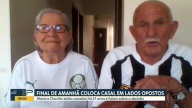 Os resultados do Brasileirão e o esquenta pra final da Libertadores - Santos x Palmeiras coloca casal com 61 anos de casamento em lados opostos da disputa.