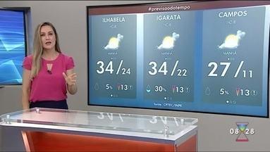Veja previsão do tempo para esta sexta-feira - Calor deve persistir na região do Vale.