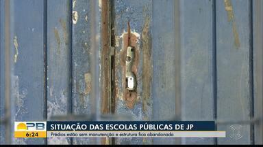 Estrutura das escolas públicas de João Pessoa está sem manutenção - Veja como está a situação de abandono