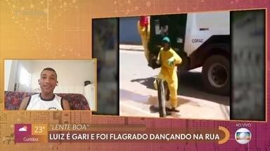Lente Boa: câmera flagrou gari dançando nas ruas de Goiás - Luiz é gari e foi flagrado dançando na rua