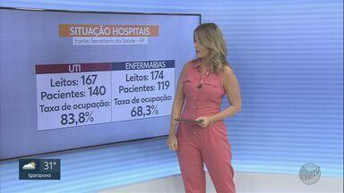 Veja os números do novo coronavírus em Ribeirão Preto, SP - Taxa de ocupação das UTIs está em 83,8%.
