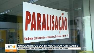 Funcionário do Banco do Brasil paralisam atividades por 24 horas em cidade de SC - Funcionário do Banco do Brasil paralisam atividades por 24 horas em cidade de SC