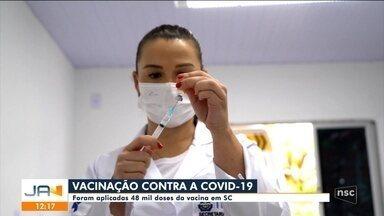 SC aplica 48 mil doses de vacinas contra a Covid-19 - SC aplica 48 mil doses de vacinas contra a Covid-19