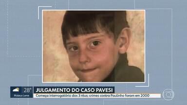 Justiça retoma julgamento do Caso Pavesi em Belo Horizonte com interrogatório dos réus - Três médicos são acusados de matar o menino Paulinho Pavesi e de retirar ilegalmente órgãos. O crime foi em 2000, em Poços de Caldas.