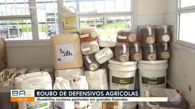 Quadrilha é presa por roubar defensivos agrícolas em fazendas de Luís Eduardo Magalhães - Bandidos roubavam pesticidas.