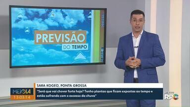Veja como fica a previsão do tempo para os Campos Gerais neste fim de semana - Há previsão de chuva para sábado (30) e domingo (31) em Ponta Grossa.