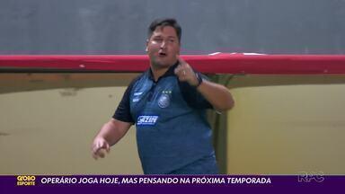 Operário fecha Série B já olhando para a próxima temporada - Fantasma encara o Botafogo-SP nesta sexta-feira (29) e já confirmou a permanência do técnico Matheus Costa e a volta do goleiro Simão