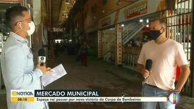 Termina o prazo para lojistas do Mercado Municipal se adequarem às normas dos bombeiros - Se não atenderem critérios, local poderá ser interditado.