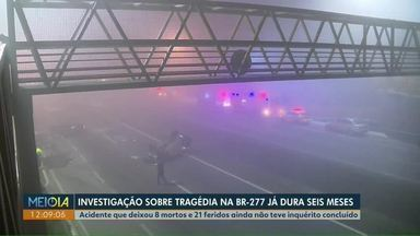 Acidente que deixou 8 mortos e 21 feridos no Paraná ainda não teve inquérito concluído - Tragédia na BR-277, na região de Curitiba foi em agosto de 2020. 22 veículos se envolveram na batida.