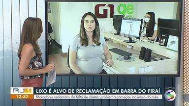 Lixo é alvo de reclamação em Barra do Piraí - Moradores reclamam da falta de coleta, que não acontece há mais de 20 dias.