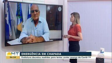 Prefeito de Chapada fala das medidas para tentar conter avanço da Covid-19 - Prefeito de Chapada fala das medidas para tentar conter avanço da Covid-19
