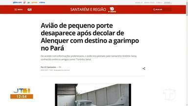 Desaparecimento de aeronave é destaque no G1 Santarém - Confira a informação completa no portal.