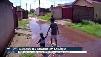 Moradores continuam ilhados em Ladário - MS1 esteve na região no dia 26/01. O que será que mudou?