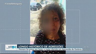 Patrão é preso suspeito de espancar e causar morte de diarista - A diarista tentou evitar que ele agredisse a esposa. Vítima chegou a ficar internada por uma semana, mas acabou morrendo em Aparecida de Goiânia.