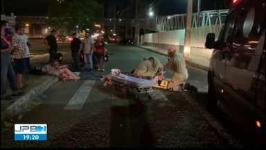Atropelamento em Cabedelo deixa três pessoas feridas - Vítimas foram levadas para o Trauma de João Pessoa.