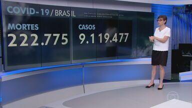 Brasil registra 1.071 mortes por Covid-19 em 24 horas - Média móvel de sete dias subiu para 1.078 óbitos diários - é a maior média de mortes desde o dia 27 de julho de 2020. O patamar desta sexta-feira (29) também representa uma alta de 12% em 14 dias.