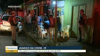 Casos de Covid-19 seguem aumentando no Acre - Na capital, a ocupação de UTIs é de mais de 80%.