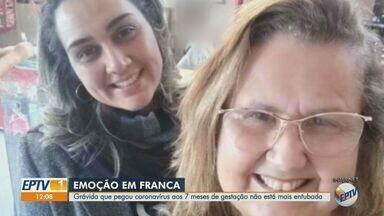 Grávida que foi contaminada pelo coronavírus em Franca, SP, não está mais entubada - Mulher de 37 anos está nos sete meses de gestação.