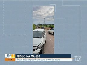 Buracos estão surgindo nas rodovias do Maranhão - Motoristas que trafegam pela região do Vale do Pindaré reclamam das condições da MA 320, a estrada está cheia de buracos e até a cabeceira da ponte apresenta problemas.