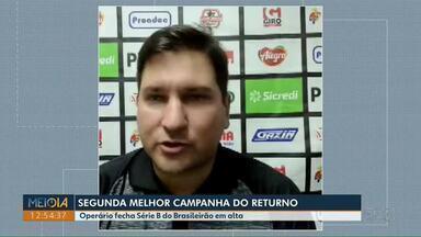 Operário fecha o campeonato com 2ª melhor campanha do returno da Série B - Fantasma venceu o Botafogo-SP por 1 a 0.