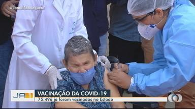Cerca de 2 mil profissionais de saúde serão vacinados contra Covid-19 neste sábado - Mais de 75 mil doses já foram vacinadas em Goiás.