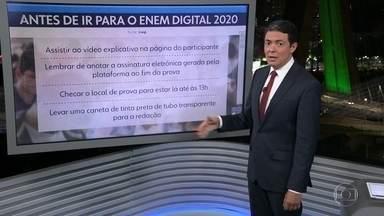 Domingo é o 1º dia do Enem Digital - No Estado de São Paulo, cerca de 28 mil estudantes escolheram essa nova modalidade