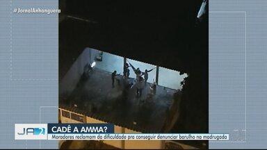 Moradores relatam dificuldade para denunciar barulho e festas irregulares em Goiânia - Muitas vezes, linha telefônica fica congestionada.