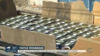 Polícia prende suspeito envolvido em furto de tintas, em Campinas - O caminhão com os produtos foi recuperado após a PM suspeitar da movimentação próxima a um banco no Jardim do Trevo.