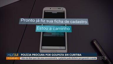 Polícia procura por golpista, em Curitiba - Ele se utiliza do nome de lojas de compra e venda e engana clientes.