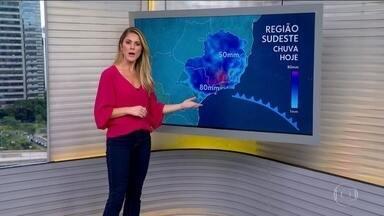 Virada no tempo no Sul e no Sudeste - O risco de temporal é para o Sudeste, no Rio, em Minas e em São Paulo. A temperatura fica abaixo dos 30 graus em algumas capitais. Tempo firme no Sul e em parte do Nordeste.