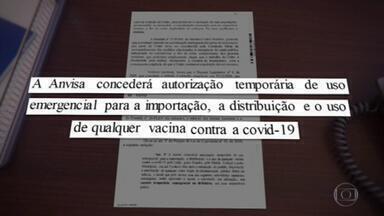 Ministério da Saúde anuncia intenção de importar 10 milhões de doses da Sputnik V - Pasta informou que a compra só será concretizada se a Anvisa aprovar o uso emergencial da vacina e se o preço for 'competitivo'. Governo também sinalizou que pretende comprar também doses a serem fabricadas no Brasil.