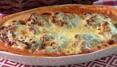 Aprenda a preparar rondelli com alcachofra - Receita feita em São Roque (SP) é herança de família italiana; prato é delicado e cheio de sabor.