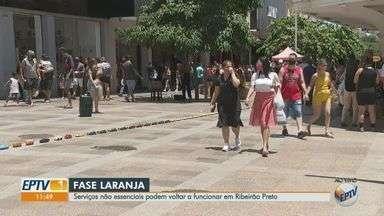 Comércio de rua, shoppings, bares e restaurantes reabrem em Ribeirão Preto - Cidade avançou para a fase laranja do Plano SP nesta sexta-feira (5).