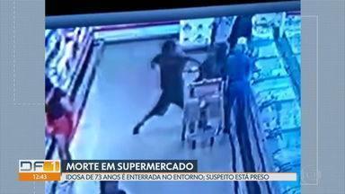 Corpo de idosa morta em supermercado é enterrado - Um suspeito está preso e a polícia descartou que ele tenha cometido o crime sob efeito de drogas.