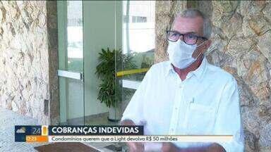 Condomínios do Rio vão à Justiça contra a Light por erro na conta de luz - Síndicos argumentam que concessionária cobrou a mais pela energia de áreas comuns e não devolveu a diferença.