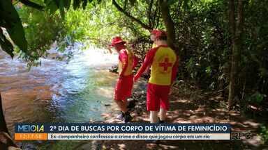Buscas por corpo de moradora de Peabiru entram no segundo dia - Ex-companheiro confessou ter matada a mulher a jogado corpo em um rio.