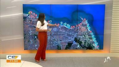 Veja a previsão do tempo para esse sábado (6) - Saiba mais em: g1.com.br/ce