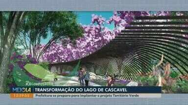 Região do lago municipal em Cascavel deve ser revitalizada - Prefeitura se prepara para implantar o projeto Território Verde, ciclofaixas irão integrar toda a região de reserva.