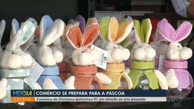 Comércio se prepara para a Páscoa - Consumo de chocolate aumentou 4% em relação ao ano passado.