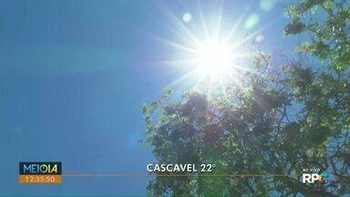 Fim de semana ensolarado no Paraná - Mas no começo do dia, as temperaturas ficam amenas em todas as cidades do estado.