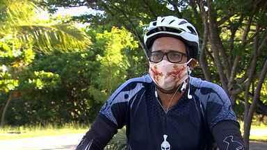 Oswaldo Mendonça pedalou de Aracaju até Salvador para celebrar a vida - Professor de educação física percorreu 320km durante três dias para concluir objetivo.