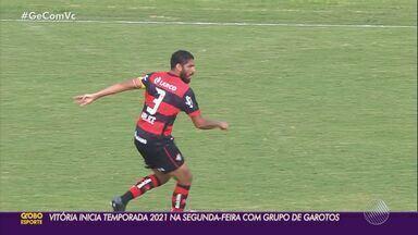 Vitória inicia preparação para 2021 com garotos da Toca - Campeonato série B já foi encerrado e, agora, o clube rubro negro enfrenta novos desafios.