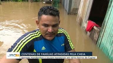 Equipes de reportagem mostram transtornos causados pela chuva em Rio Branco - Equipes de reportagem mostram transtornos causados pela chuva em Rio Branco