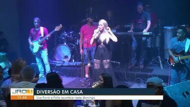 Live forró e folia acontece neste domingo (7) - Apresentação fica por conta do apresentador Leandro Leires.