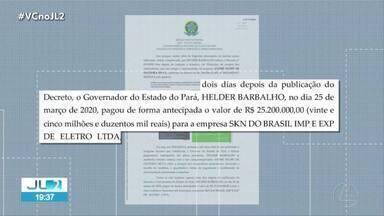 PF pede ao STJ indiciamento de Helder Barbalho pela compra fraudulenta de respiradores - PF pede ao STJ indiciamento de Helder Barbalho pela compra fraudulenta de respiradores
