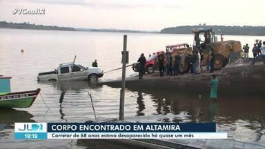 Corpo de idoso desaparecido é encontrado dentro de carro submerso em Altamira - Corpo de idoso desaparecido é encontrado dentro de carro submerso em Altamira
