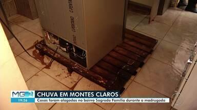 Chuva provoca alagamentos em Montes Claros - Casas no Bairro Sagrada Família foram alagadas.