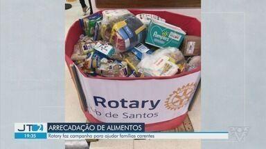 Rotary faz campanha para ajudar famílias carentes da Baixada Santista - Campanha arrecada alimentos para famílias em situação de vulnerabilidade.