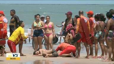 Um jovem e duas adolescentes se afogam na praia Calhau em São Luís - Secretaria Municipal de Saúde (Semus) informou que o jovem Mateus Reis, de 18 anos, morreu pouco antes de chegar ao Hospital Municipal Djalma Marques - Socorrão I, em São Luís.