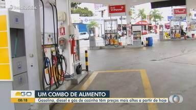 Gasolina e etanol sofrem reajuste a partir desta terça-feira (9) - Preço deve aumentar nas bombas.